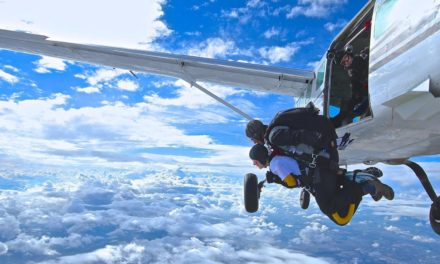 Chelsey Arnold is skydiving for BFiG